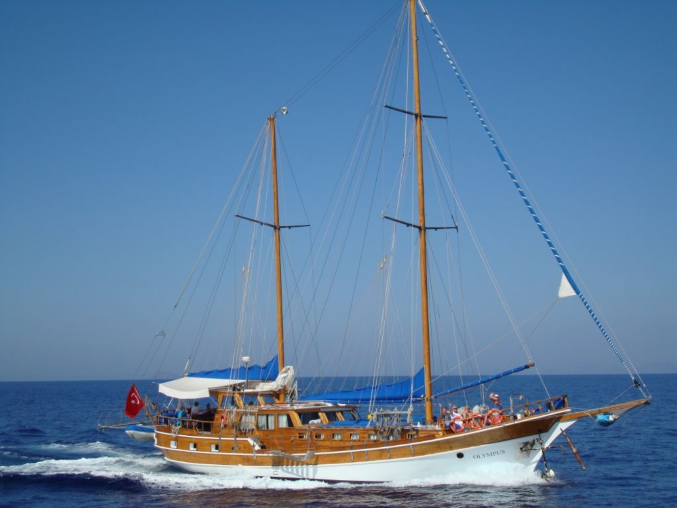 4 Day Fethiye to Olympos Blue Cruise Cabin Charter