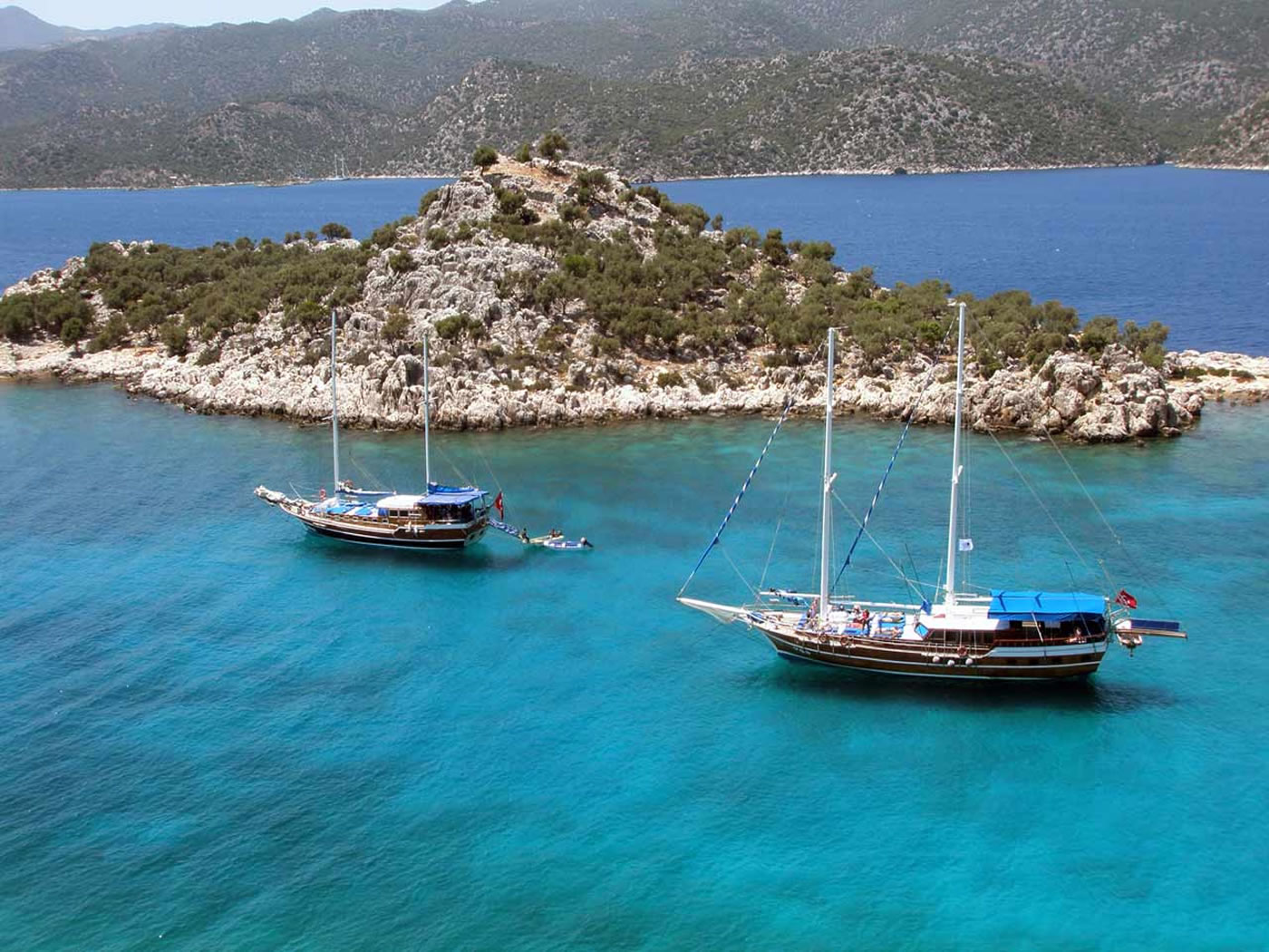 4 Day Olympos to Fethiye Blue Cruise Cabin Charter 5