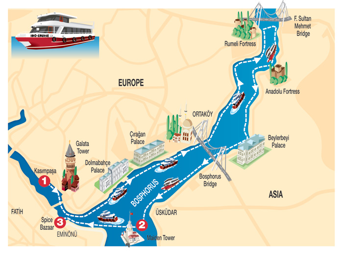 Bosphorus Sightseeing Boat Cruise Daily Tour In Istanbul